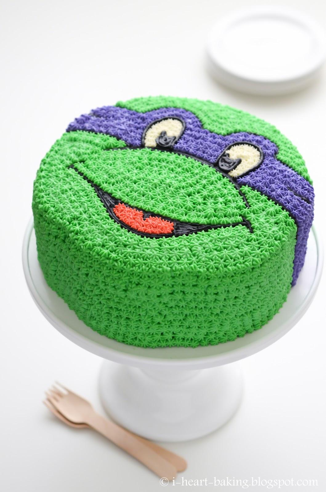 I Heart Baking Teenage Mutant Ninja Turtle Cake