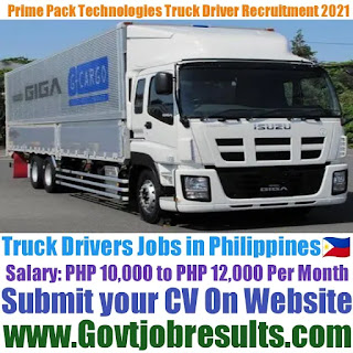 Prime Pack Technologies Inc Truck Driver Recruitment 2021-22