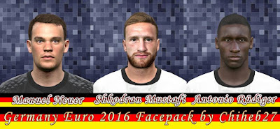 PES 2016 Germany Euro 2016 Facepack by Chiheb27