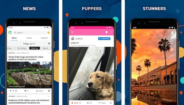 Reddit-for-Android - أفضل تطبيقات التواصل الاجتماعي للاندرويد