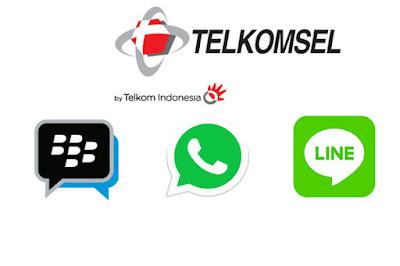 Cara Daftar Paket Chat Telkomsel ( Whatsapp, Line, BBM ) Terbaru 2018