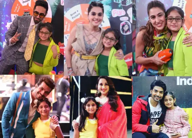 Anantya Anand with popular Bollywood celebrities