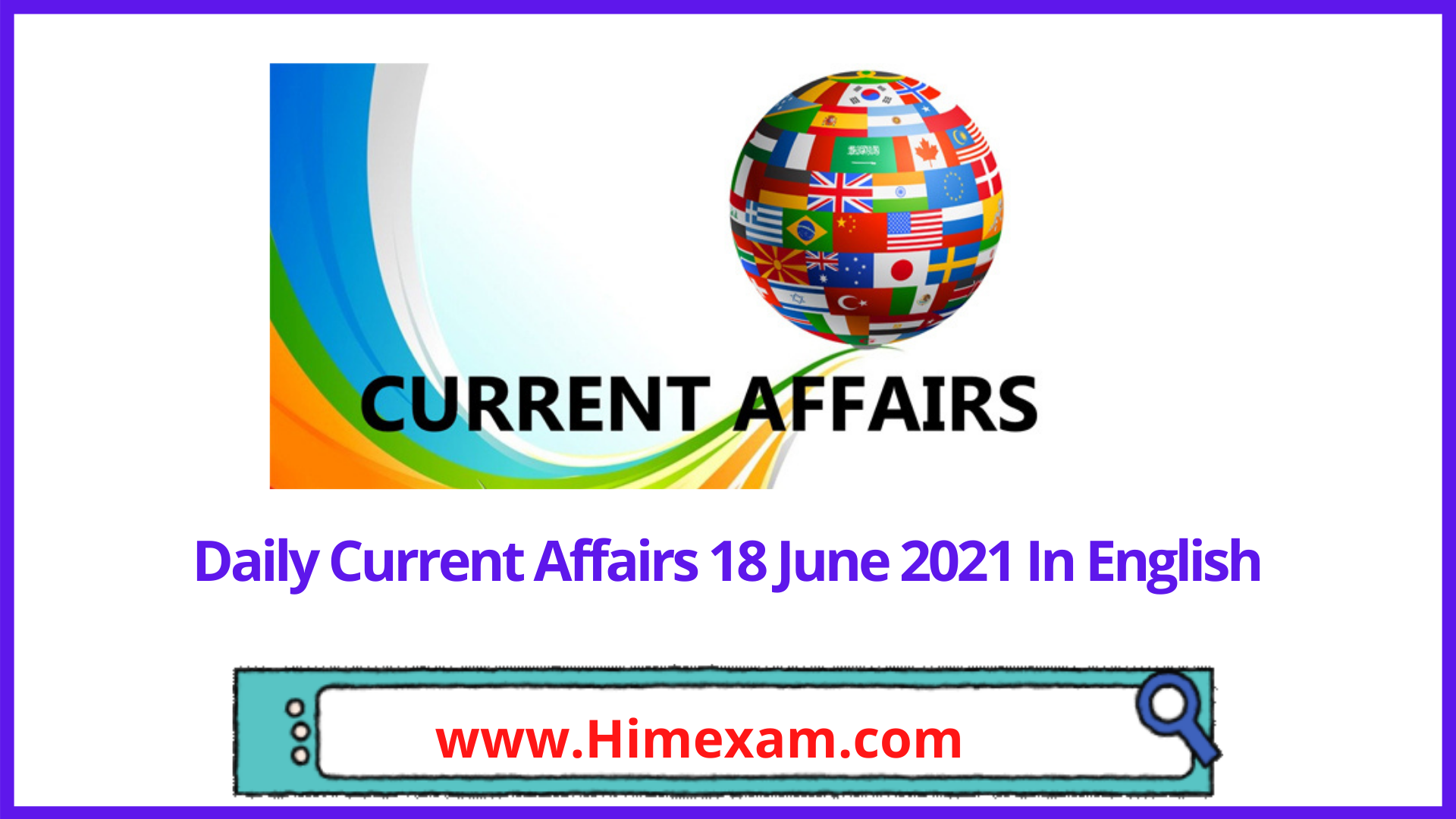Daily Current Affairs 18 June 2021 In English