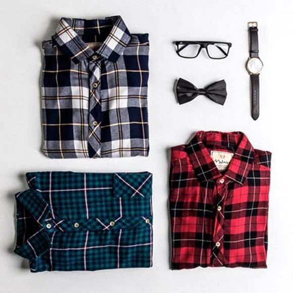 Camisas em xadrez