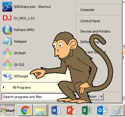 sdrangel windows monkey hvdn