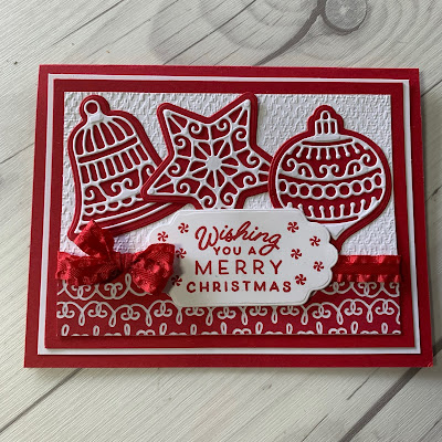 Handmade Christmas Card using dies cuts and images from the Frosted Gingerbread Bundle from Stampin' Up!