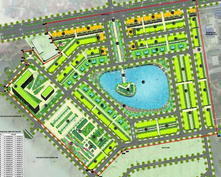 Mặt bằng phân lô giai đoạn 2 Khu đô thị Dĩnh Trì