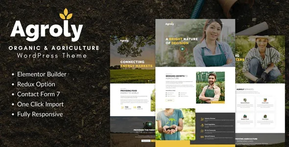 Best Organic and Agriculture Food WordPress Theme
