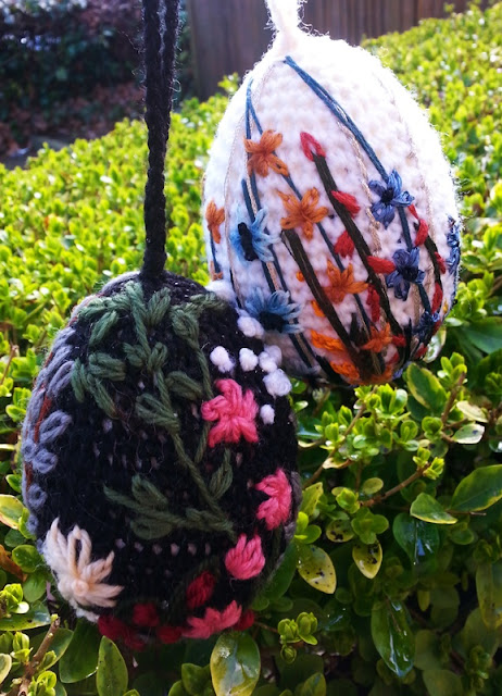 easter eggs crochet and embroidery