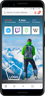 Smartphone, Brave browser, CoinMantra, Sponsored Image