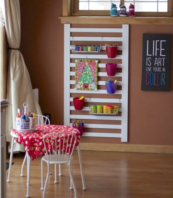 Create a kid's crafting area