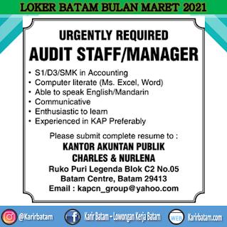 Lowongan Kerja Audit Staff/Manager