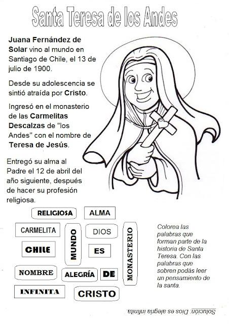 La Catequesis (El blog de Sandra): Recursos Catequesis Santa Teresa ...