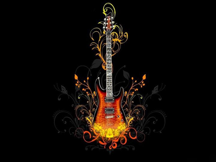 3 boyutlu gitar resmi