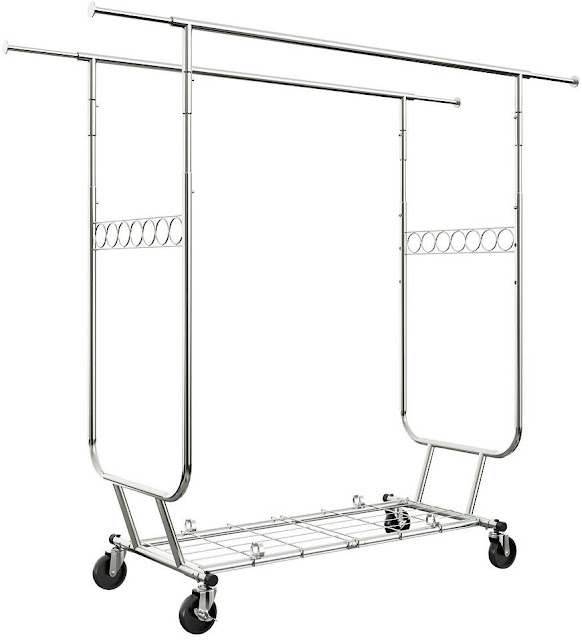 Heavy Duty Rolling Clothing Rack