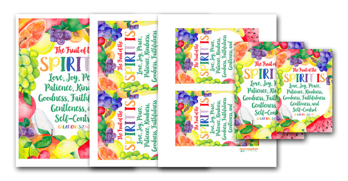 Watercolor Fruit of the Spirit Printables