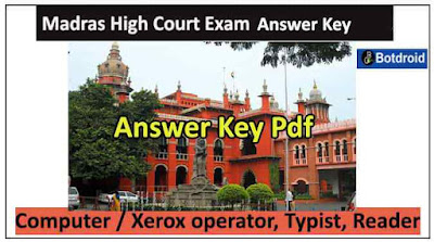 madras high court exam official answer key pdf