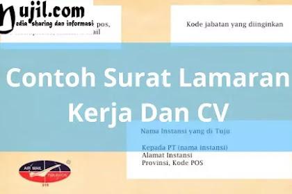 Contoh Surat Lamaran Kerja Dan CV (Curriculum Vitae)/ Daftar Riwayat Hidup