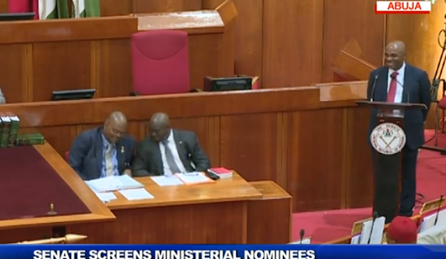 "Nigeria ministerial screening: Senate goes tough  over Rotimi Amaechi's ""take a bow"" request"
