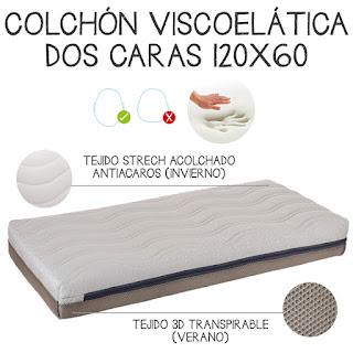 consejos para que tu bebé descanse con calor dormir bebe verano colchón viscolates viscolástica doble cara
