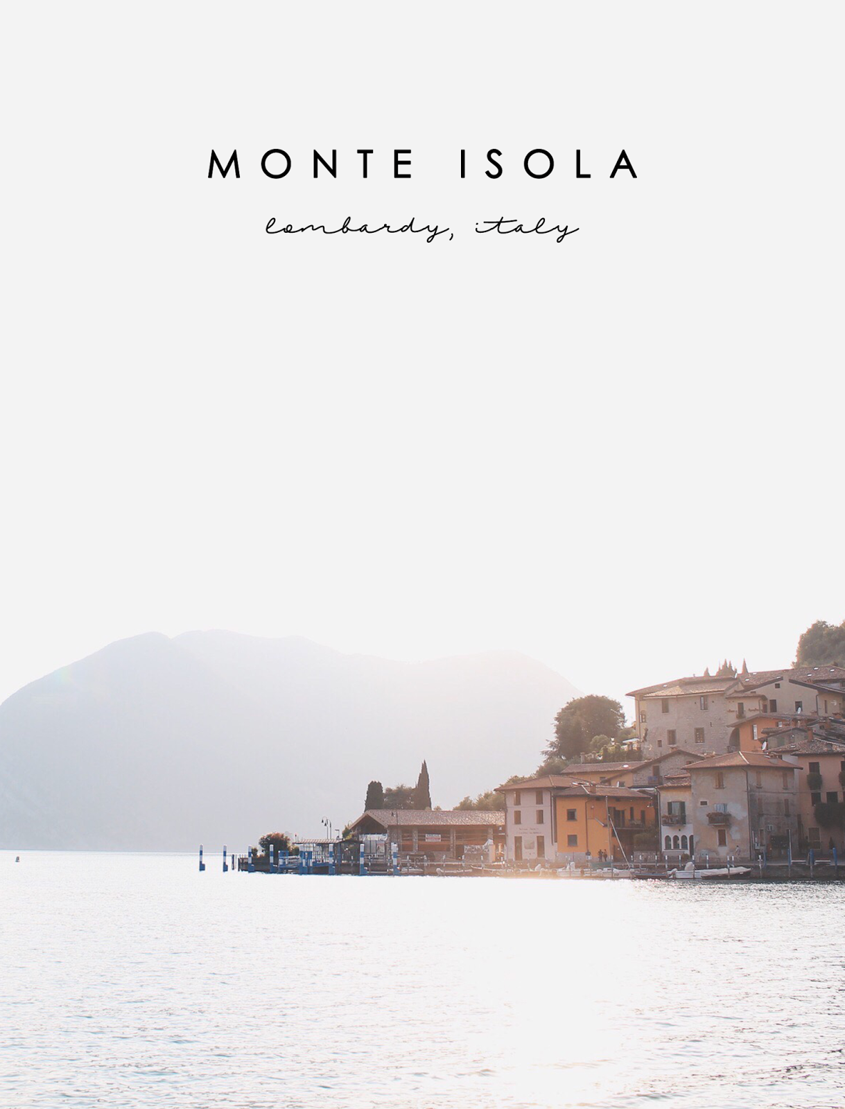 Monte Isola, Italy, Summer, Europe, Bramble and Thorn