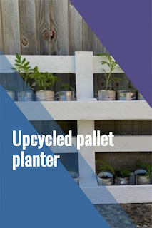 Tutorial for upcycled painted pallet planter