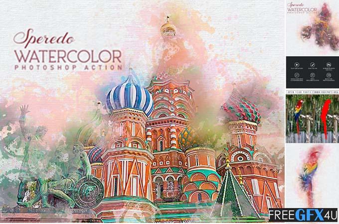 Speredo Watercolor Photoshop Action