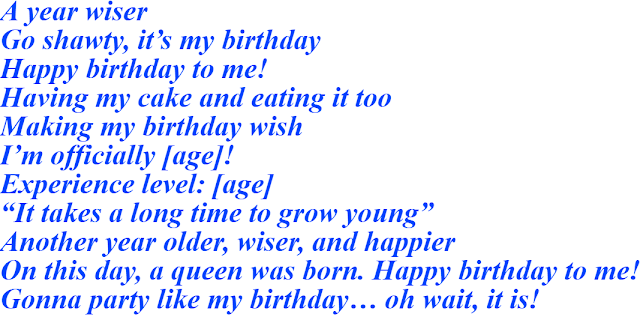 Instagram Captions For Birthday