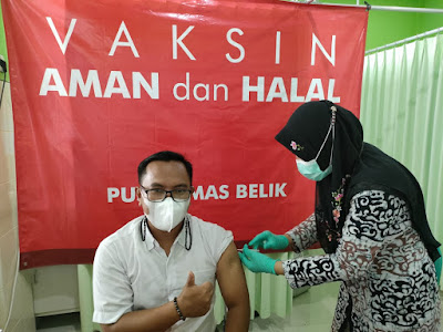 Sugeng Ngudiarto Mengikuti Vaksinasi Kedua