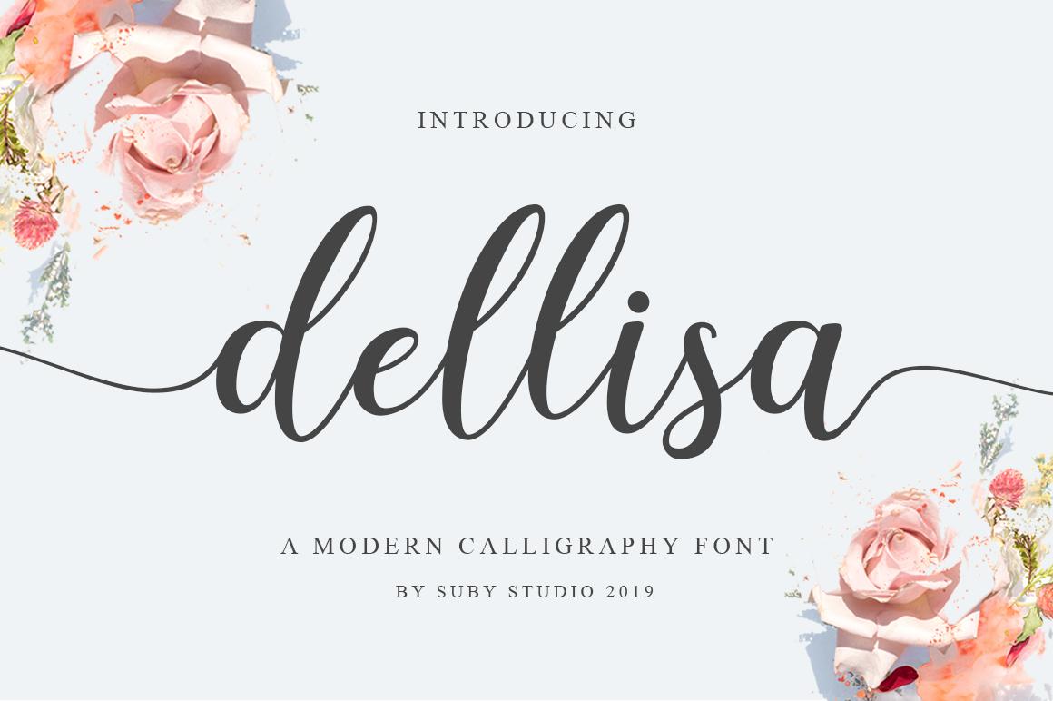 Dellisa Font - Free Script Calligraphy Typeface