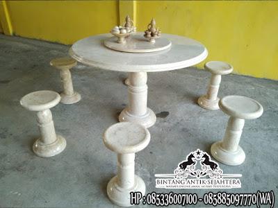 Meja Makan Marmer Putih | Meja Marmer Bulat