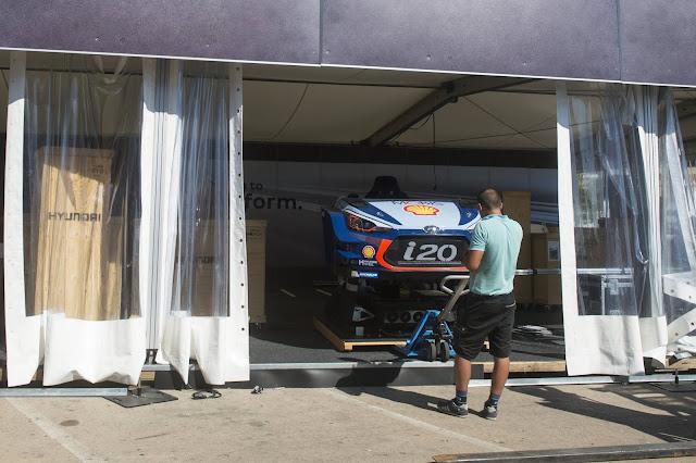 Hyundai Rally Service area