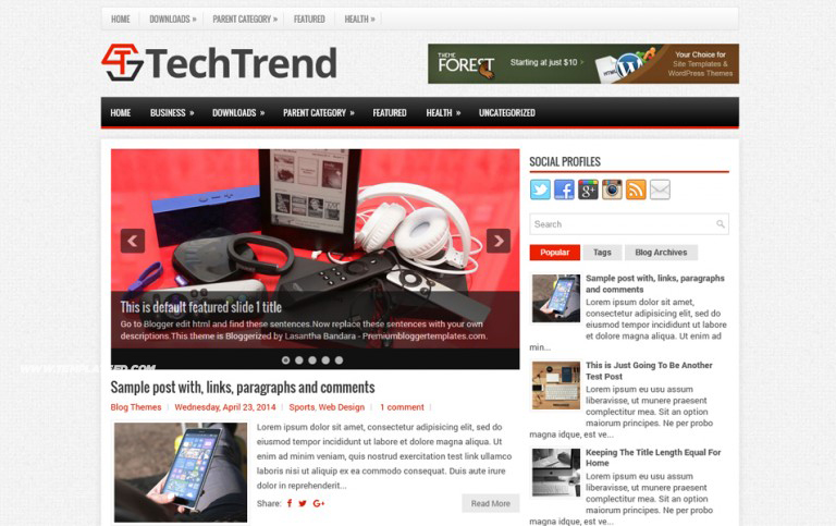 TechTrend Responsive Blogger Template