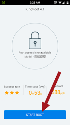 Start Root dengan KingRoot Apk