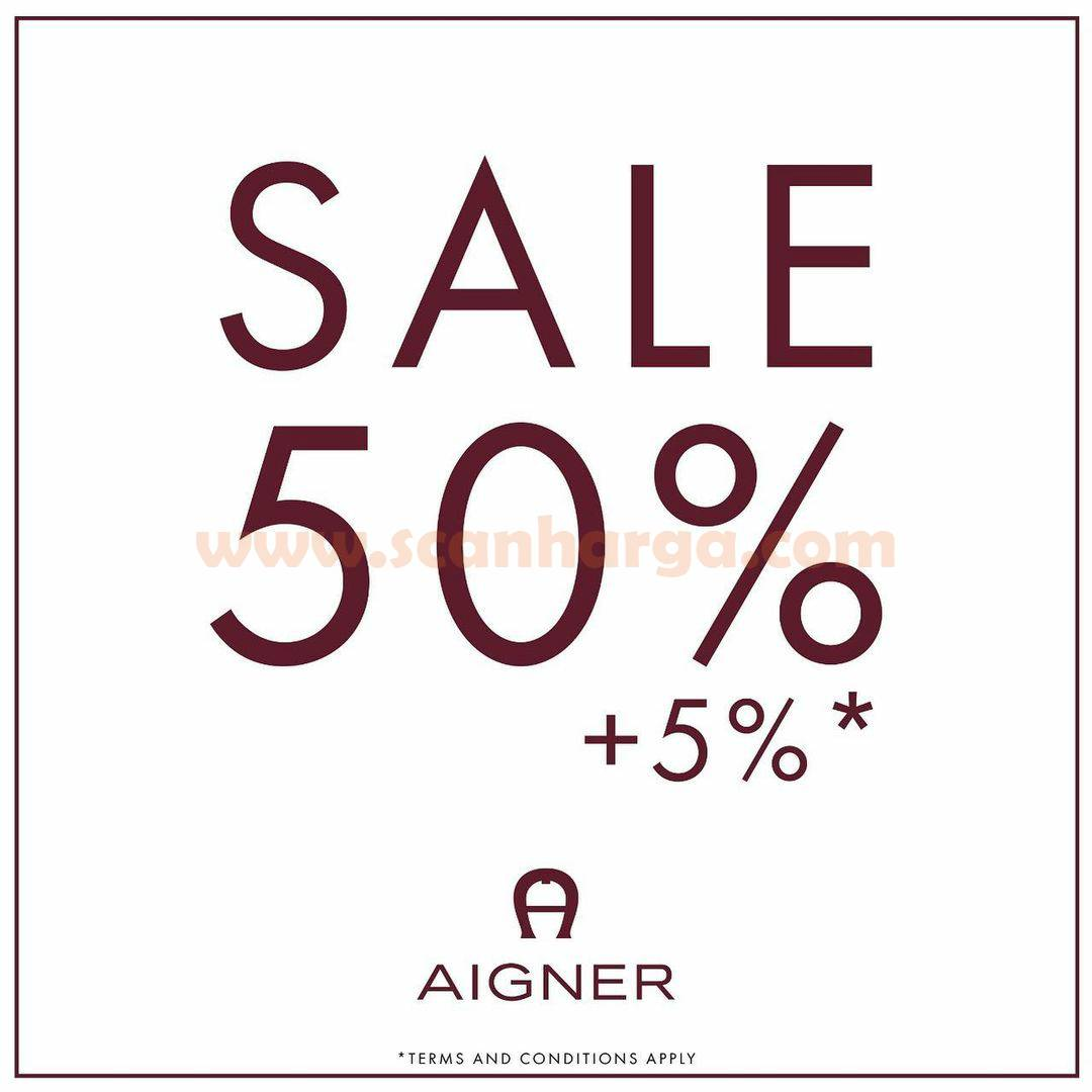 AIGNER Flash Sale ALL ITEMS 50% + 5%OFF