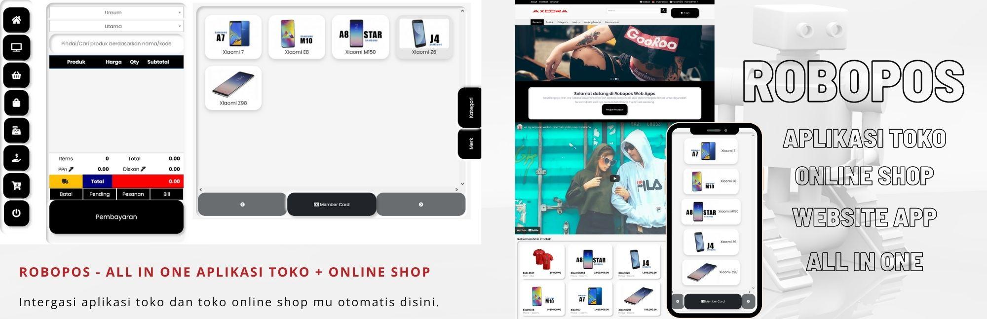 aplikasi kasir toko online shop