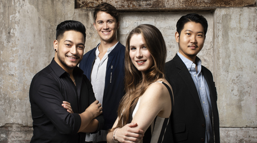 Baritone Kyu Choi, soprano Nia Coleman, tenors Filipe Manu and Joel Williams