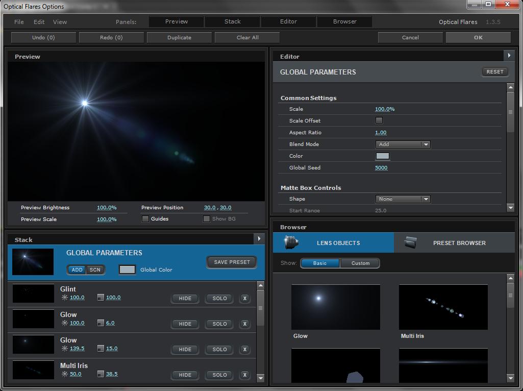 Optical flares plugin free