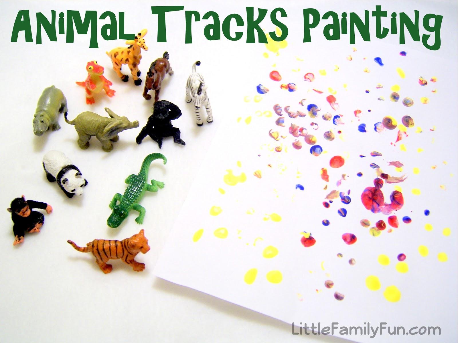 Little Family Fun Colored Animal Tracks