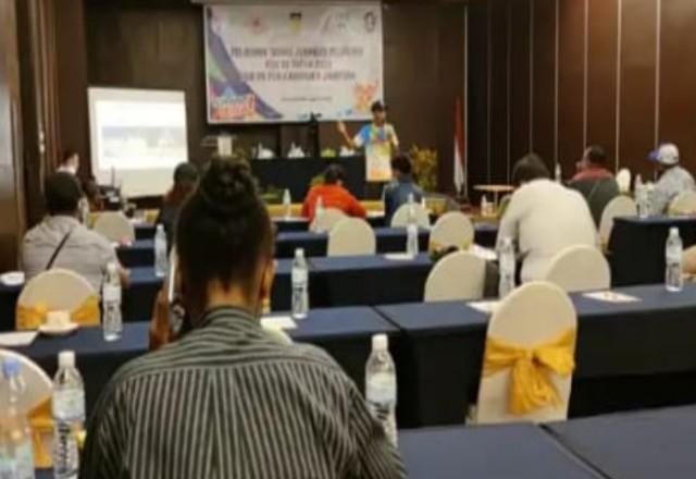Sekretariat Sub PB PON Jayapura Masih Utang Pelatihan Jurnalis di Hotel Grand Allison Sentani.lelemuku.com.jpg