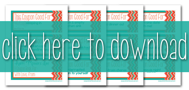 i should be mopping the floor Mother\u0027s Day Printable Coupon Book