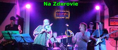 NA ZDOROVIE Members: Kostia : vocals & guitar Mike : keyboards Trick : saxophone Alex : trombone Jacka : drums