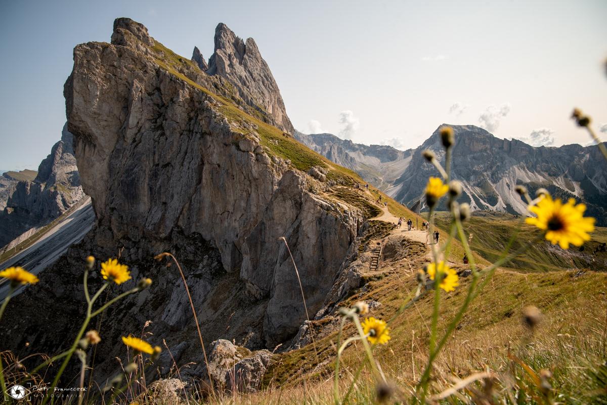 Seceda, szlaki w Dolomitach