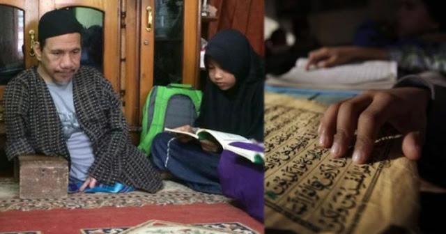 Meski Tak Punya Kaki, Ustadz Mamat Ikhlas Mengajar Ngaji Tanpa Dibayar
