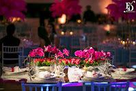 festa de 15 anos realizada no nh hall em novo hamburgo com decoração moderna e exuberante em rosa pink e azul tiffany com muitas plumas e cristais por fernanda dutra cerimonialista em novo hamburgo