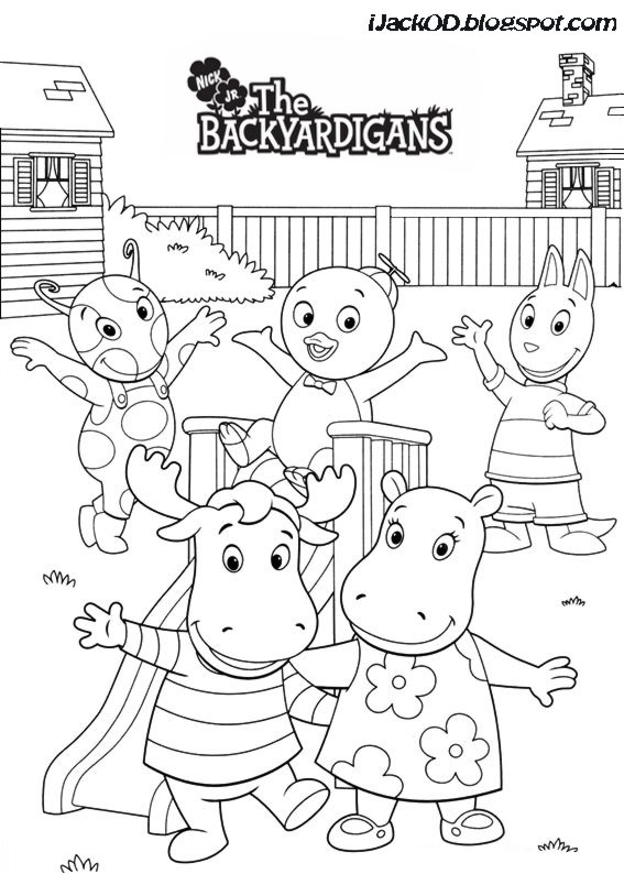 Backyardigans Colouring Pages