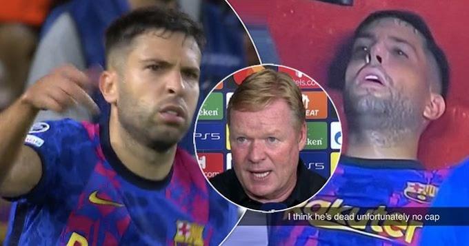 Jordi Alba looked dead after being sub off in Bayern game