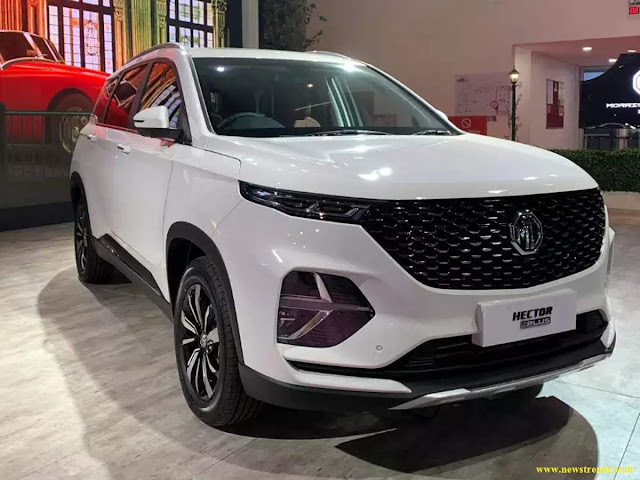 The MG Hector Plus is priced in India from ₹ 18.35 lakh