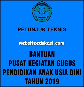 Juknis Bantuan Pusat Kegiatan Gugus PAUD 2019
