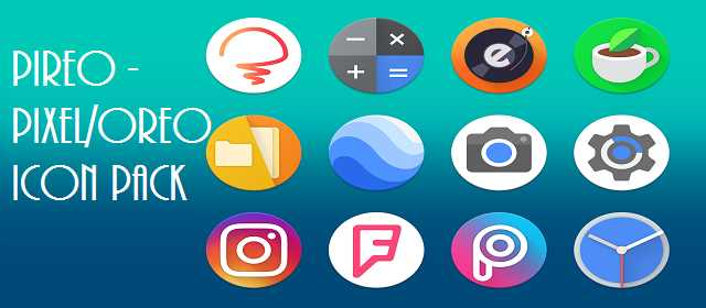 Piero Pixel ve Oreo Icon pack v2.0.0 apk indir android